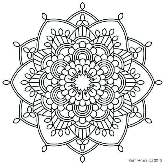 Printable Mandala Coloring Pages For Adults at GetDrawings ...