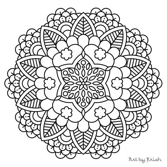 Printable Mandala Coloring Pages For Kids At Getdrawings Com Free