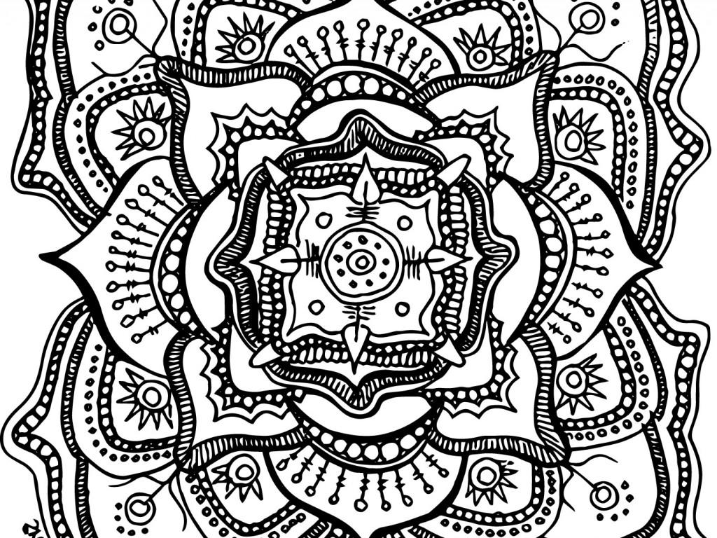 1024x768 Awe Inspiring Mandala Coloring Pages Kids Decorative Free