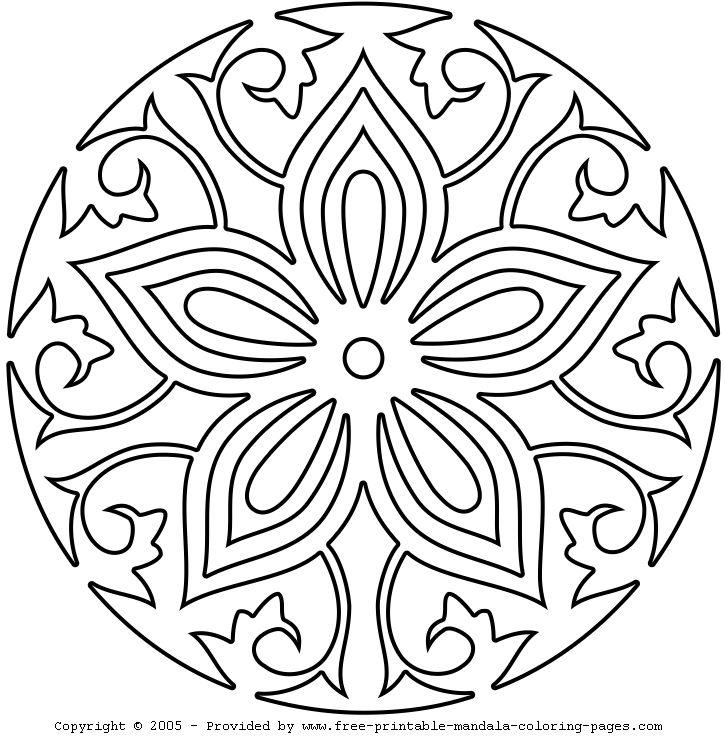 Printable Mandala Coloring Pages For Kids At Getdrawings Com Free