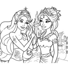 Printable Mermaid Coloring Pages