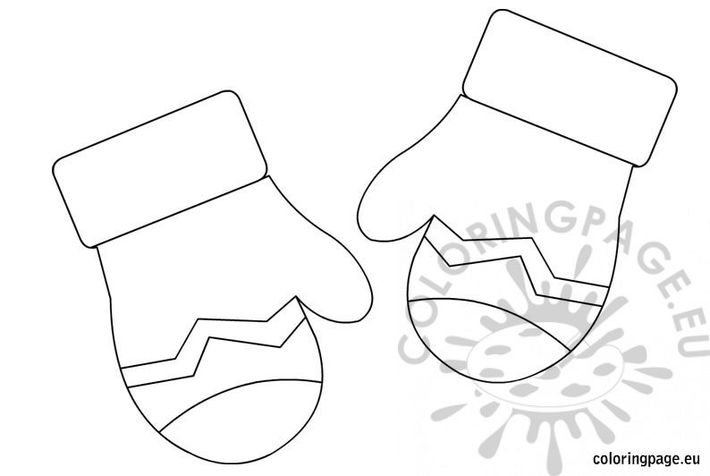 photograph about Mitten Template Printable named Printable Mitten Coloring Web site at  Absolutely free for