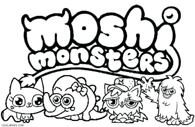 680x443 Monster Coloring Pages For Kids Printable Color