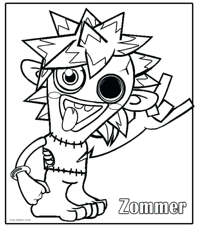 680x771 Monster Coloring Pages Monster Truck Blaze Coloring Pages Plus