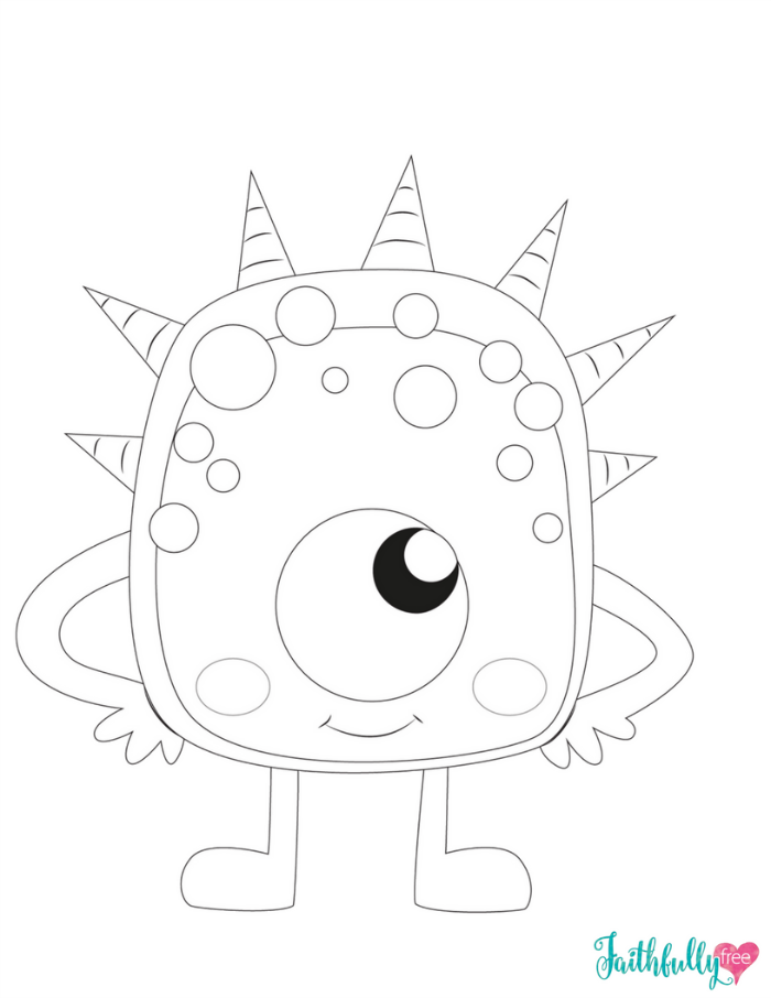 700x906 Monster Coloring Pages {free Printables} Faithfully Free