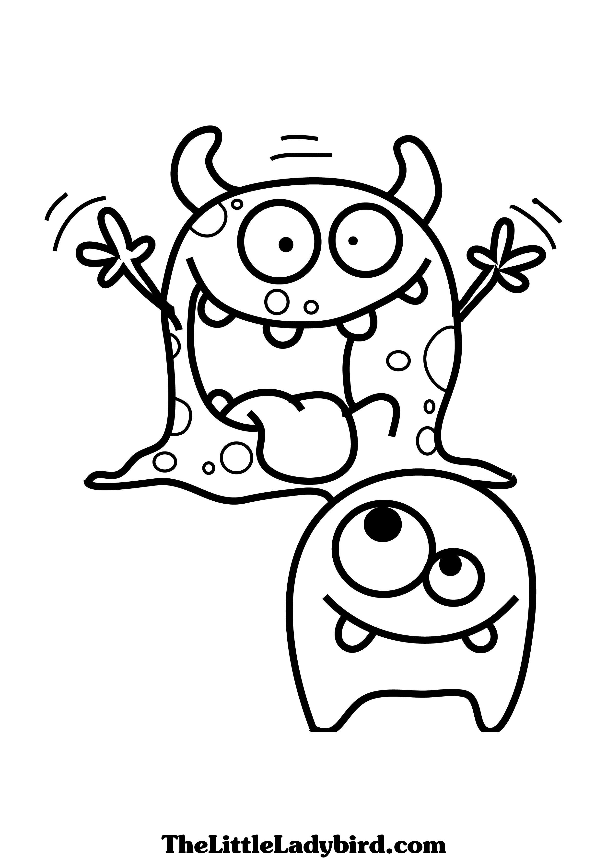2480x3508 Cozy Design Cute Monster Coloring Pages To Print Baby Little