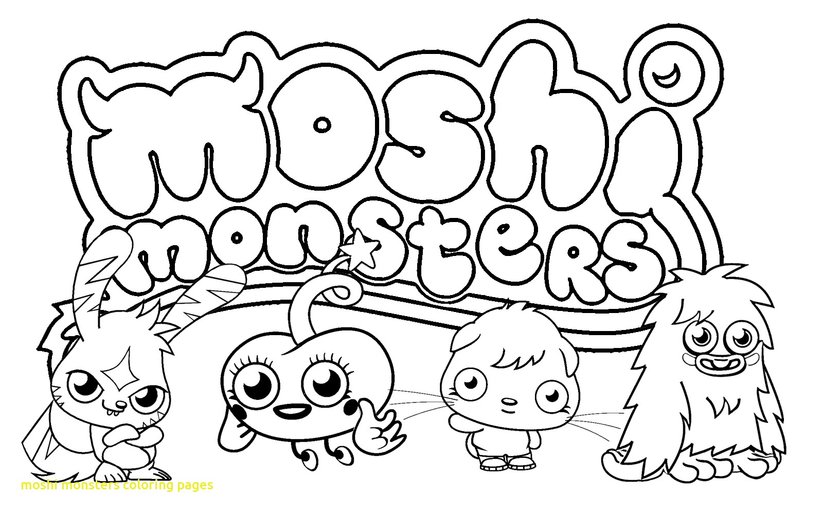 1600x1000 Moshi Monsters Coloring Pages With Free Printable Moshi Monster