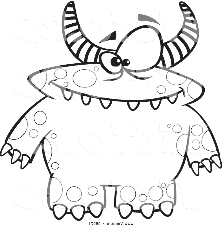921x938 Printable Monster Coloring Pages
