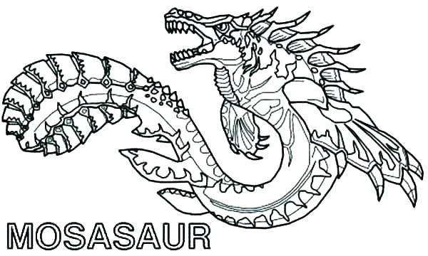 600x360 Scary Dragon Coloring Pages Printable Monster Coloring Pages