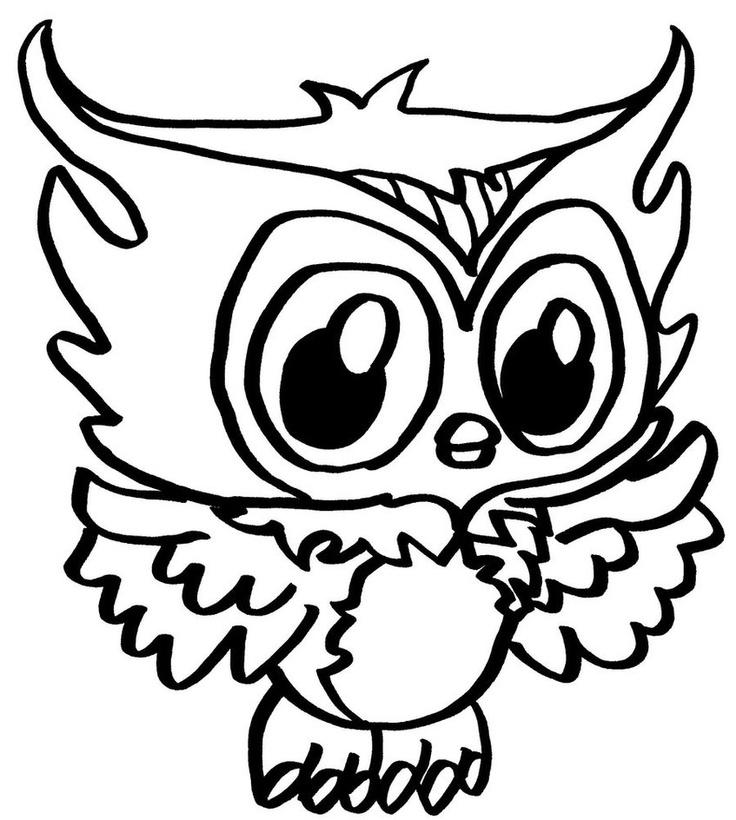 736x820 Cute Monster Coloring Pages