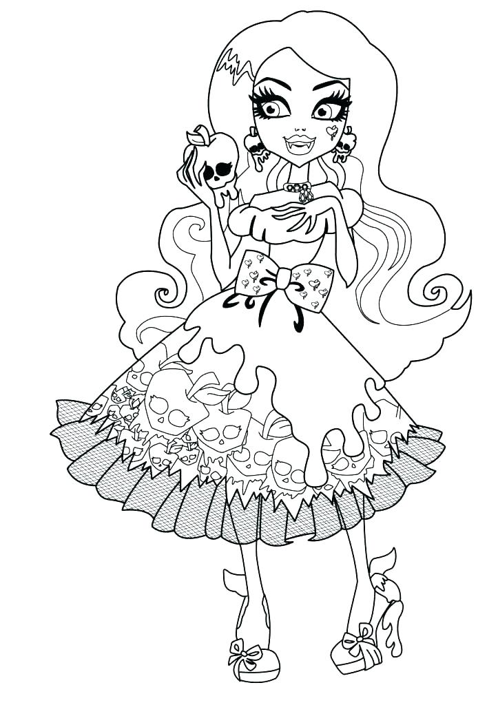 723x1024 Cute Monster Coloring Pages Free