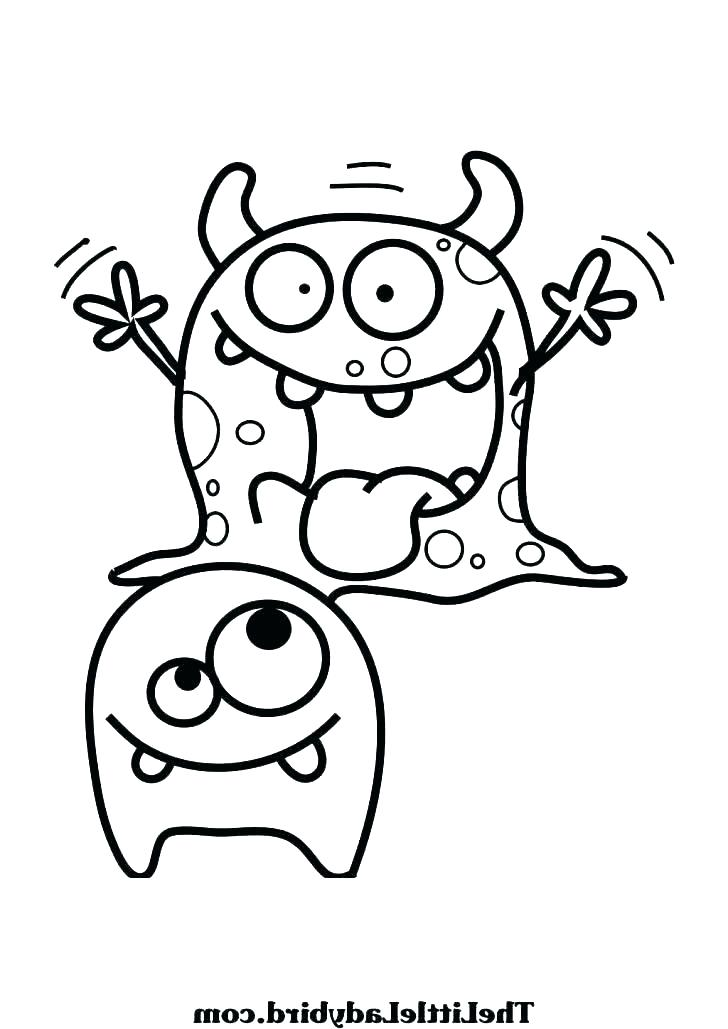 728x1029 Monster Coloring Pages
