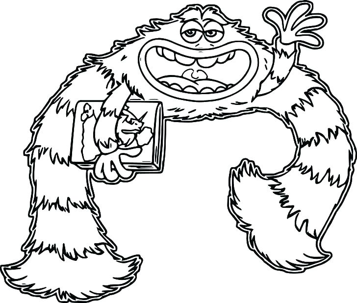 728x618 Printable Monster Coloring Pages