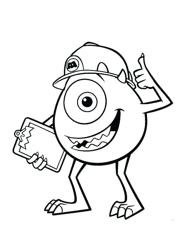 600x776 Funny Coloring Pages For Kids Monster Coloring Pages Printable