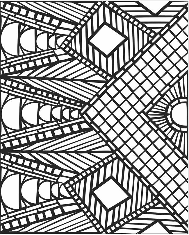 Printable Mosaic Coloring Pages At Getdrawings Com Free For