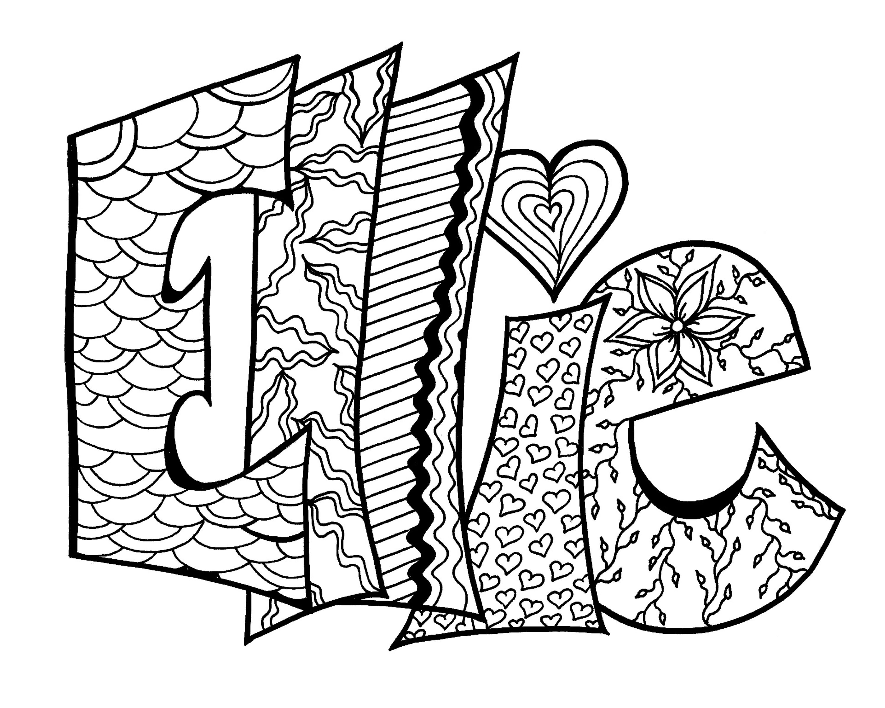 Printable Name Coloring Pages