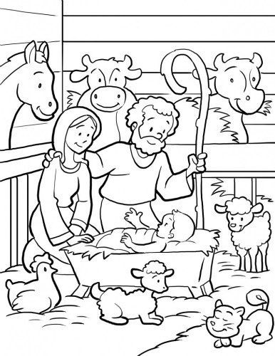 386x500 Free Printable Nativity Coloring Pages For Kids Sunday School