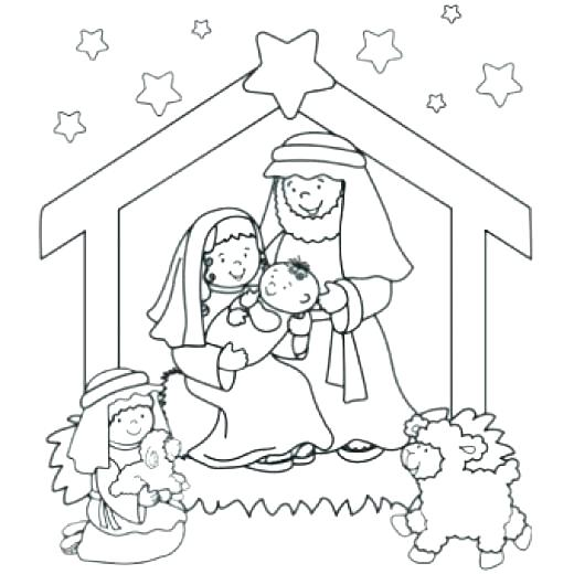 520x520 Nativity Color Pages Free Printable Nativity Coloring Pages