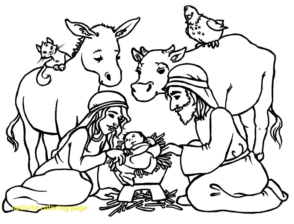 1024x780 Nativity Coloring Page With Free Printable Nativity Coloring Pages