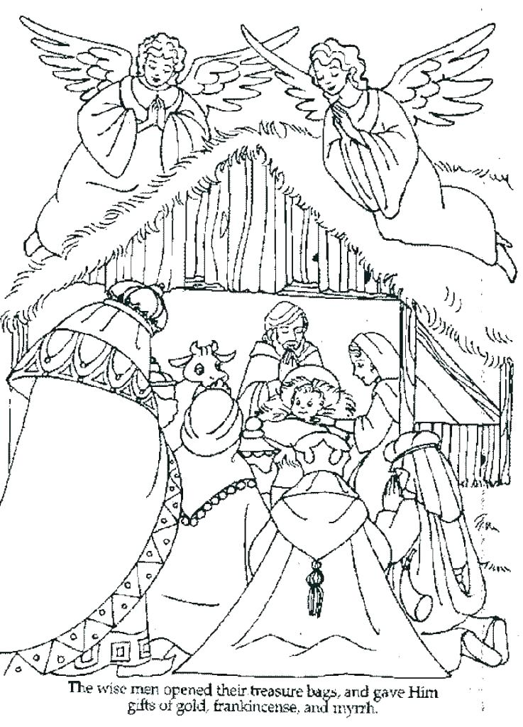 737x1024 Nativity Coloring Pages Printable Nativity Coloring Pages Table