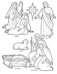 236x307 Printable Nativity Coloring Page To Cut Out And Make Your Own