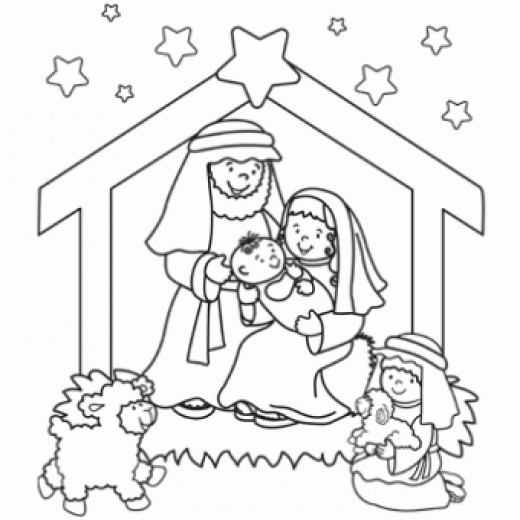520x520 The Brilliant Stunning Free Printable Nativity Coloring Pages