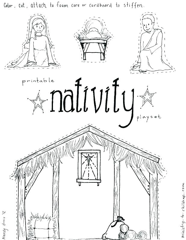 618x796 Printable Nativity Coloring Pages