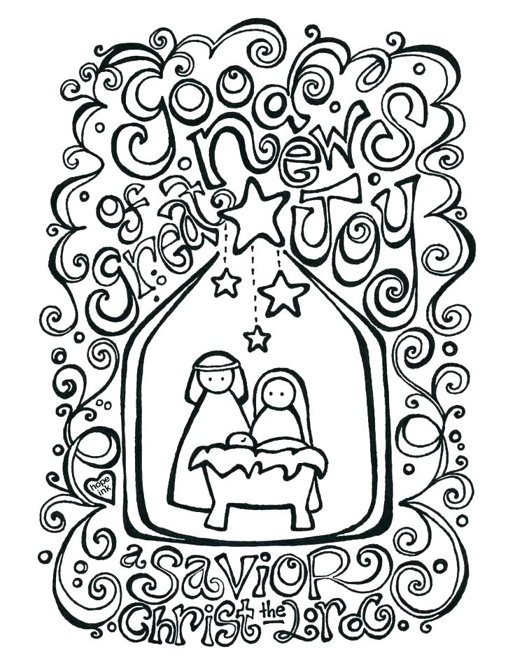 736x955 Free Printable Nativity Coloring Pages Nativity Coloring Page