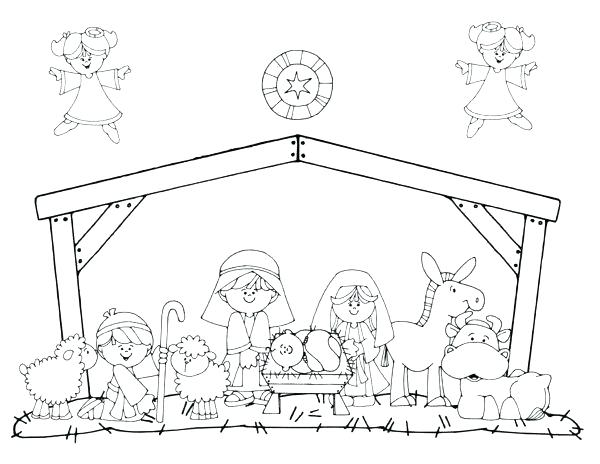 600x464 Free Printable Nativity Coloring Pages Printable Nativity Coloring