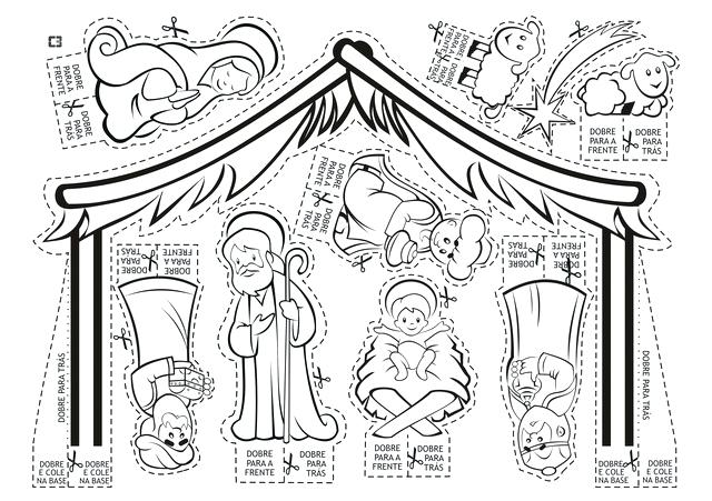 640x451 Nativity Scene Coloring Pages Nativity Scene Coloring Pages