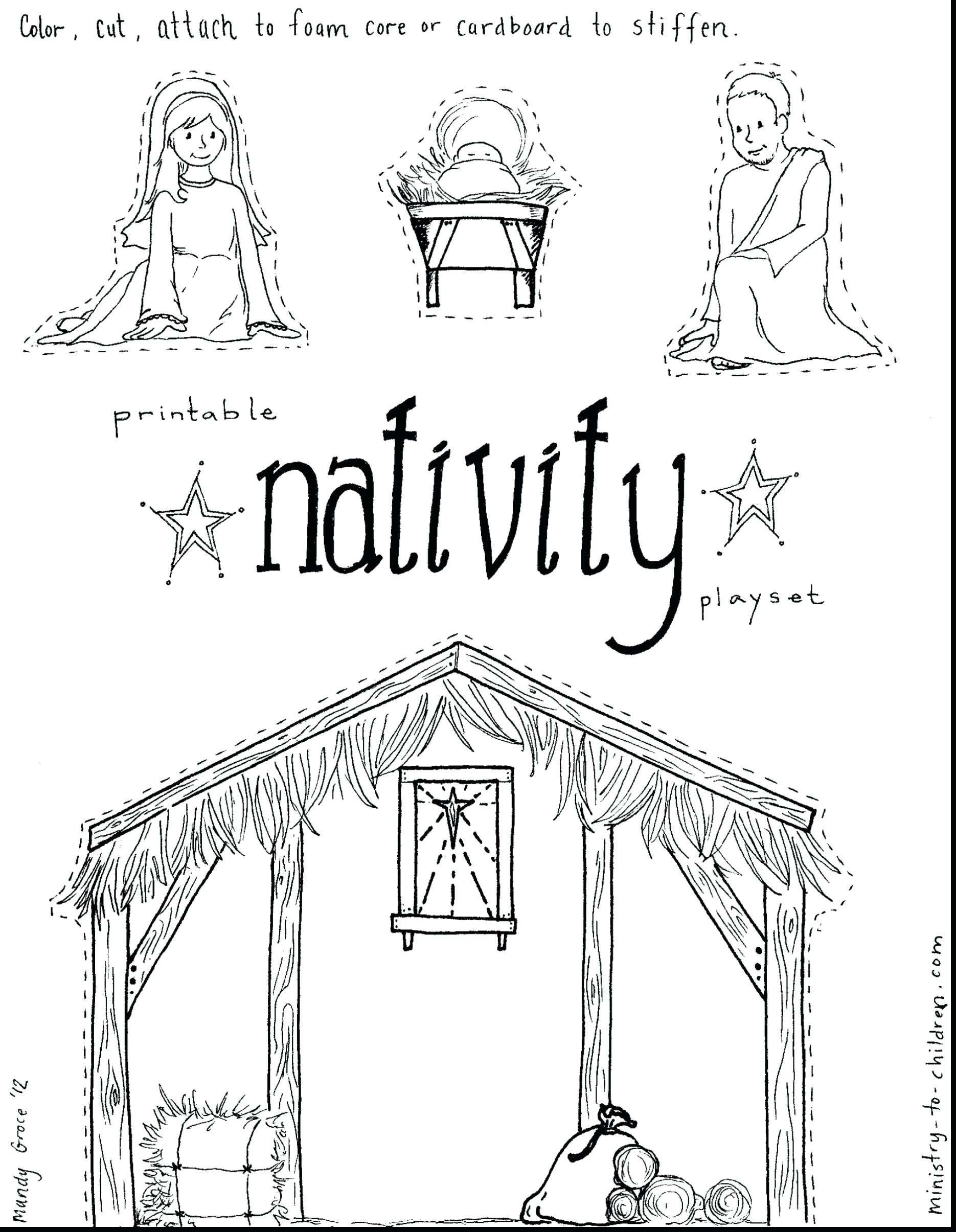 1870x2410 Refundable Nativity Scene Coloring Pages Print