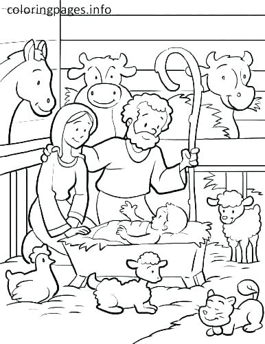 386x500 Free Printable Nativity Coloring Pages