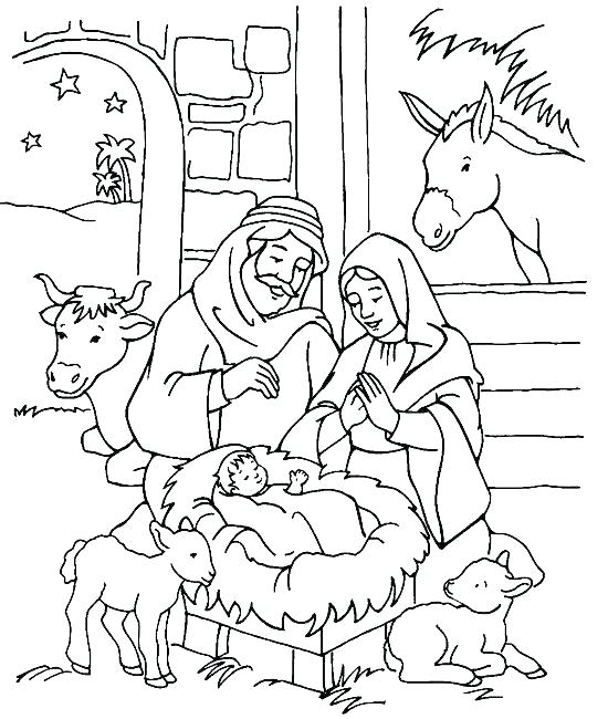 550x650 Nativity Coloring Pages Printable