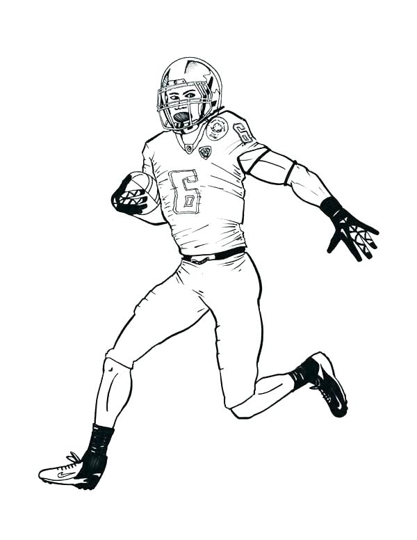 600x776 Free Printable Nfl Football Coloring Pages Nfl Football Coloring