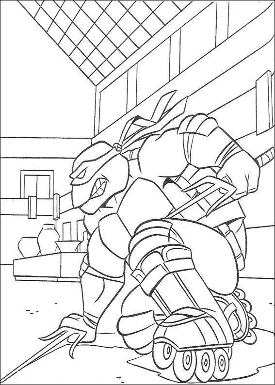 Printable Ninja Turtle Coloring Pages At Getdrawings Com Free For