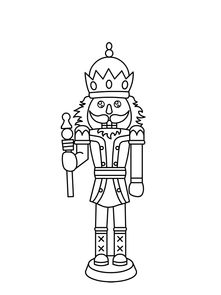 768x1024 Free Printable Nutcracker Coloring Pages For Kids Mice, Free