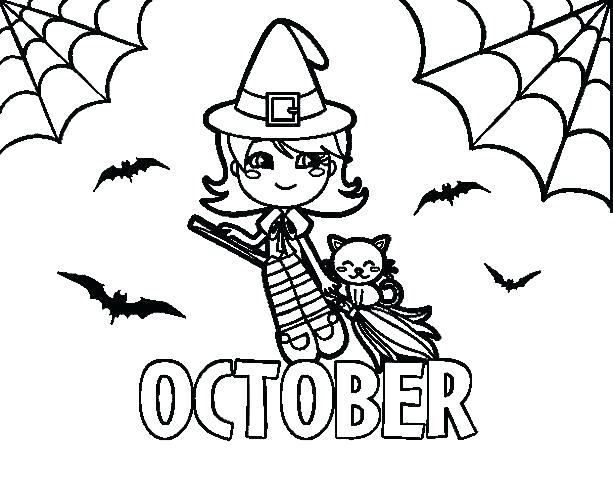 613x480 October Coloring Pages Coloring Pages To Print Free Printable