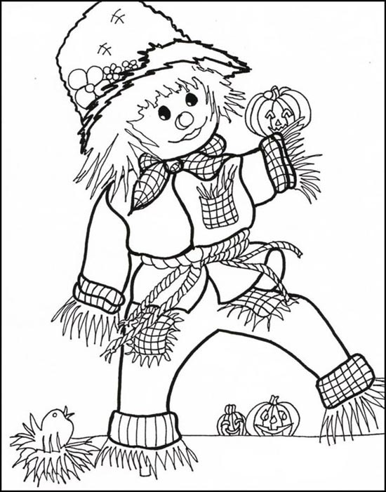 550x701 Fall Coloring Pages Halloween Coloring Pages Free Printable