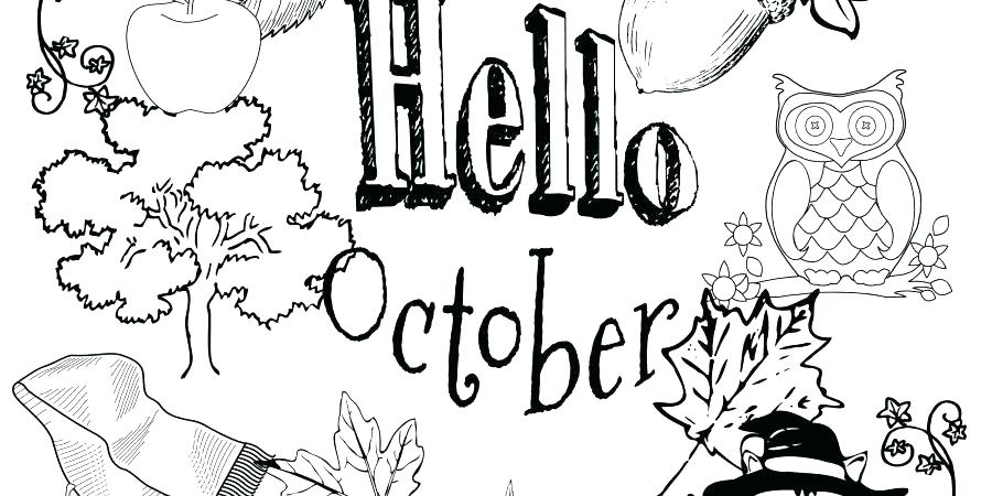 900x450 October Coloring Pages Printable