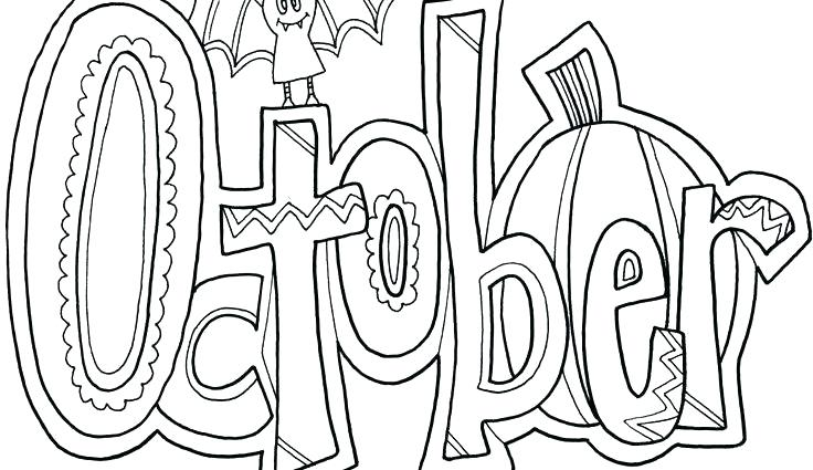 736x425 October Coloring Pages To Print