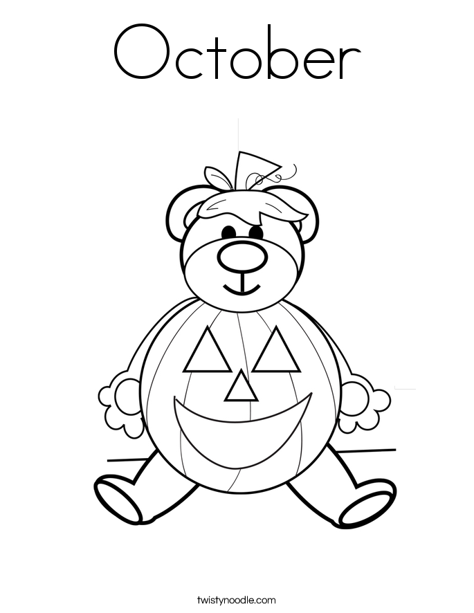 685x886 October Coloring Pages