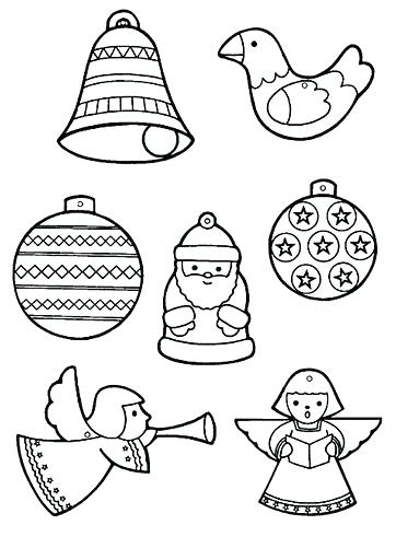362x512 Coloring Ornaments Ornament Coloring Pages Xmas Ornaments Coloring