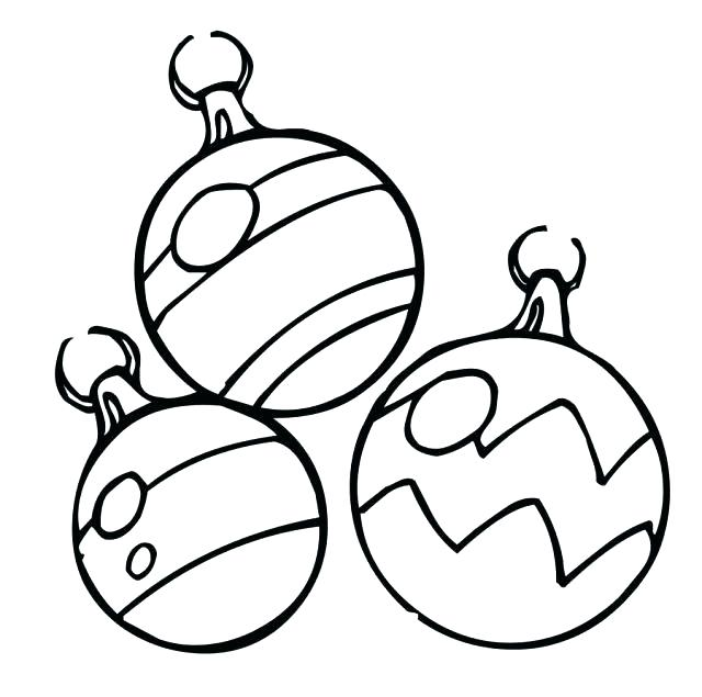 640x635 Coloring Pages Christmas Ornaments Printable Ornaments To Color