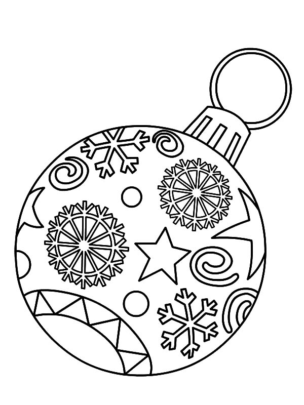 600x800 Free Printable Christmas Ornament Coloring Pages Light Bulb