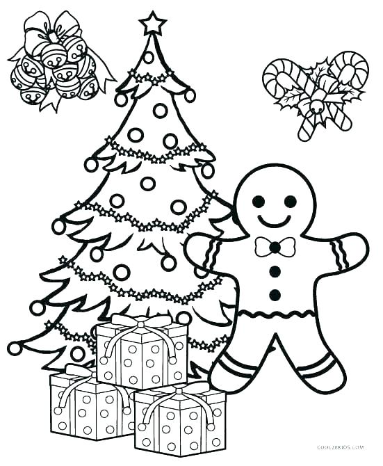 551x670 Printable Christmas Tree Coloring Pages Ornaments Color Pages