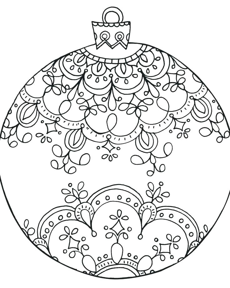 736x920 Christmas Ornaments Color Pages