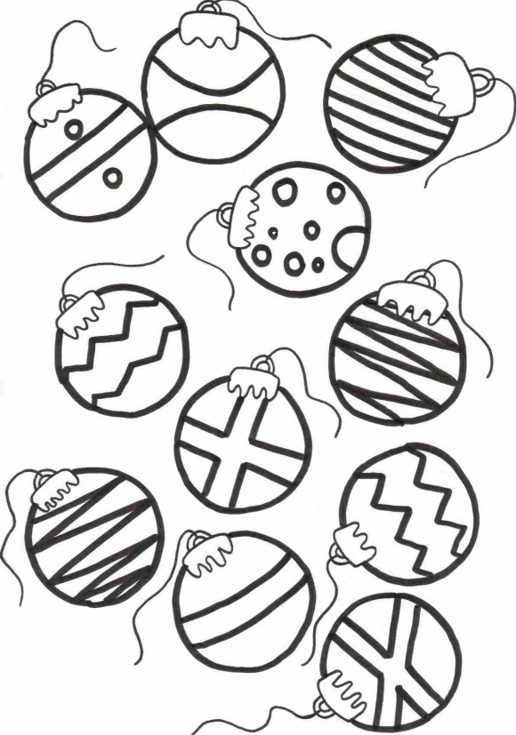 580x827 Christmas Ornaments Coloring Pages Printable Ornaments Coloring