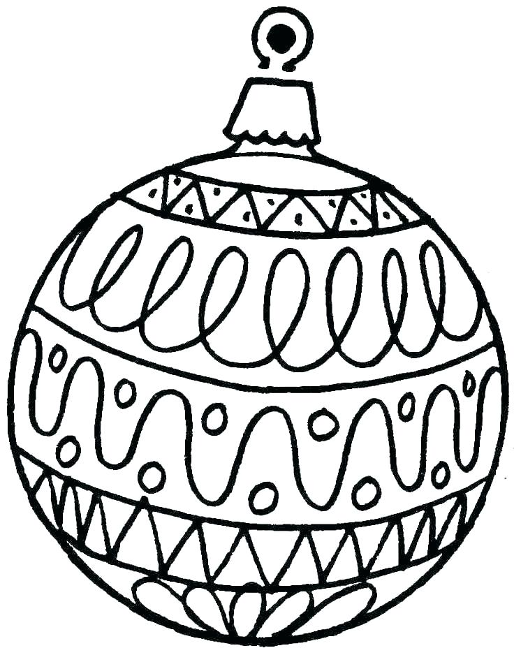 736x938 Christmas Ornaments Coloring Pages Printable
