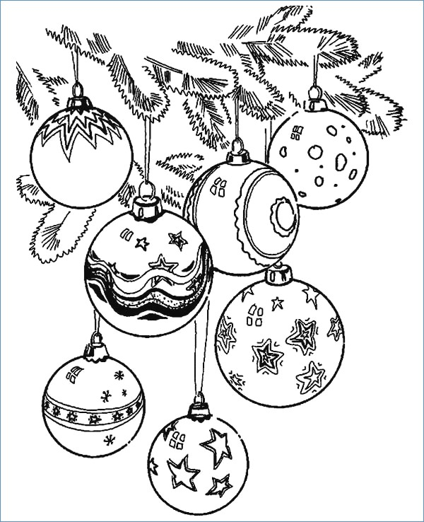 600x738 Christmas Ornament Merry Christmas Coloring Page