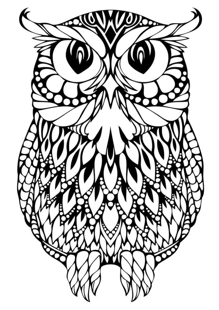 Printable Owl Coloring Pages For Adults